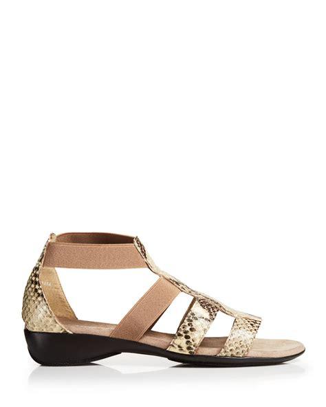 munro sandals munro sandals zena elastic in beige khaki lyst