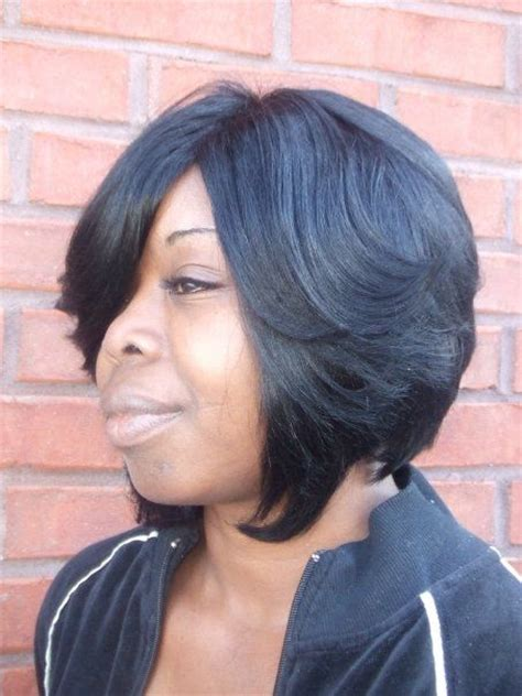 layered bob with lace look closure 66 best images about bob and wrap hair styles on pinterest