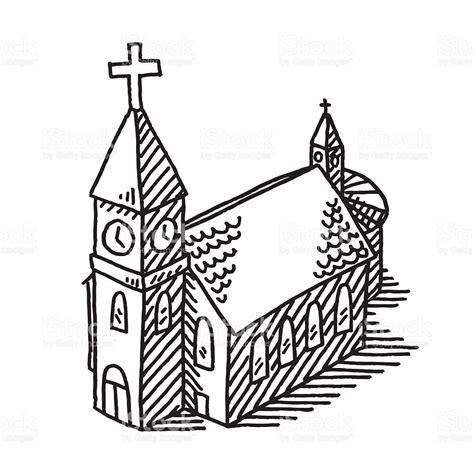 clipart chiesa de dessin 201 glise stock vecteur libres de droits 500828089
