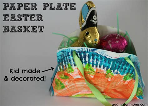 Easter Baskets With Paper Plates - paper plate easter basket