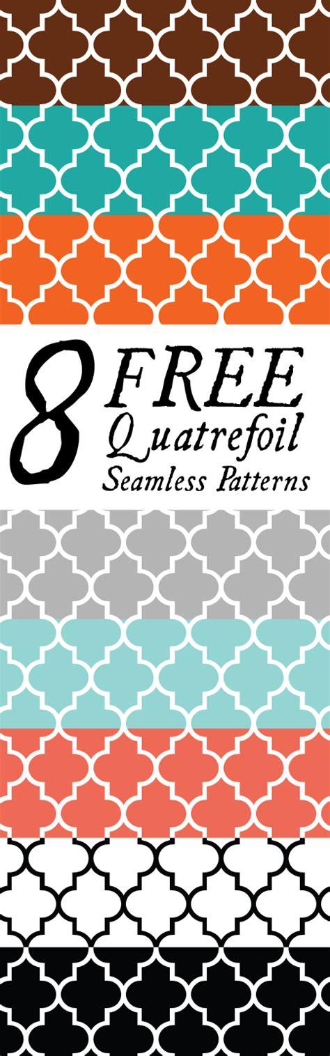 seamless quatrefoil pattern 8 free quatrefoil seamless patterns papers fab n free