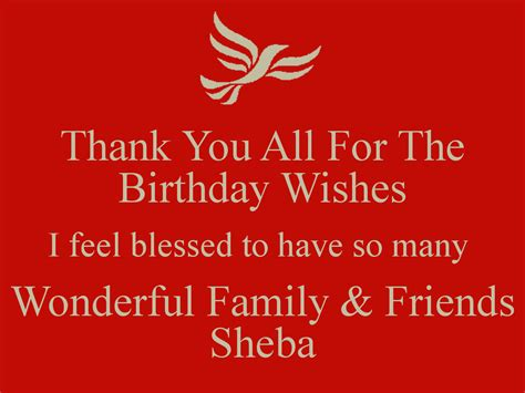 thank you for the birthday wishes images thank you all for the birthday wishes i feel blessed to