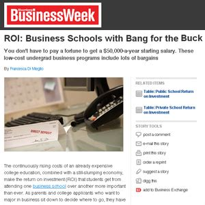 Businessweek Mba Roi Calculator by Fiu Ranked 3 In The Country By Businessweek In Return On