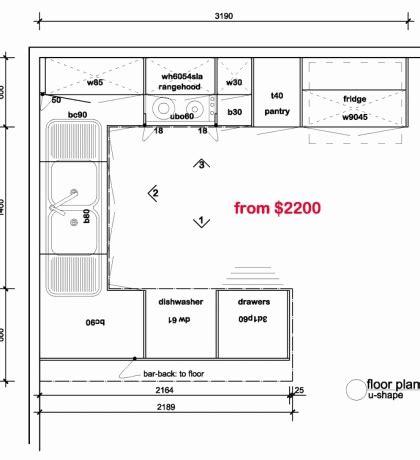 floor plan dimensions best of small kitchen floor plans