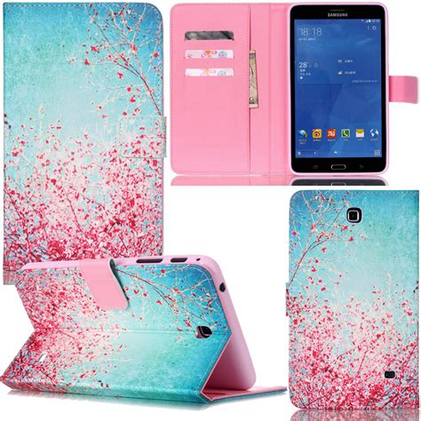 cute themes for galaxy tab 3 cute pattern smart pu leather stand case cover for samsung