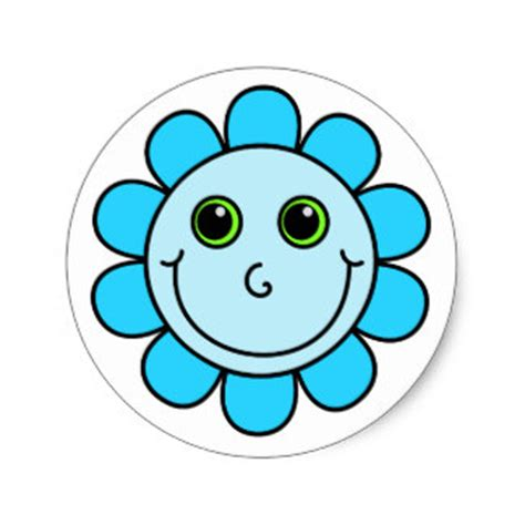 Smiley Aufkleber Blau by Blauer Smiley Aufkleber Zazzle De