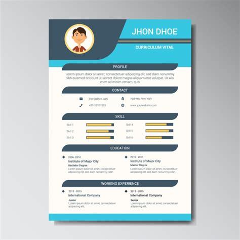 Plantillas Curriculum De Diseño Gratis Dise 241 O De Plantilla De Curriculum Descargar Vectores Gratis