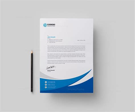 modern business letterhead template business letterhead template with modern design 000549