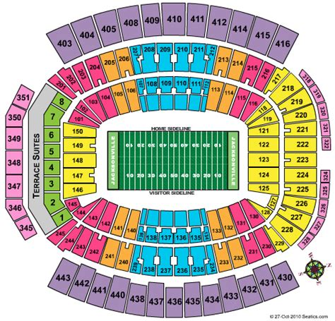 jaguars tickets seating chart everbank field jacksonville jaguars