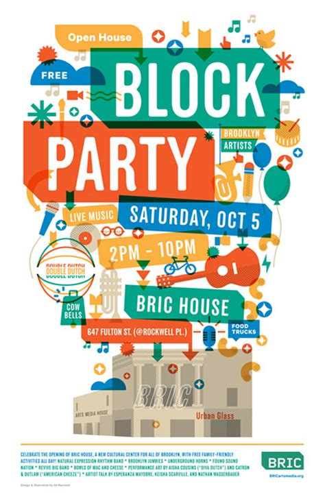 block flyer template new venue bric house opens by bam block saturday other shows scheduled