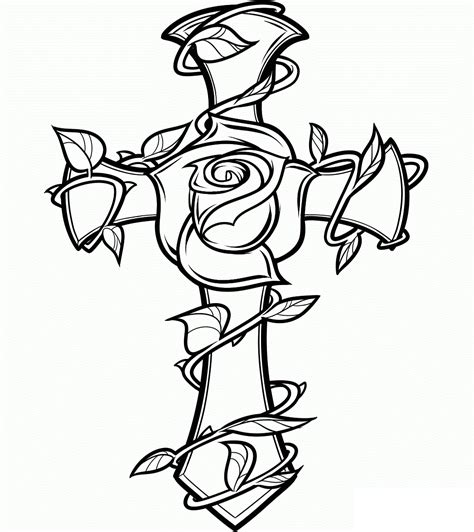 Printable Coloring Pages Crosses | free printable cross coloring pages for kids
