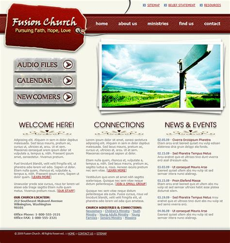 Church Website Template 242 Christian Church Template Complete Website Layout Church Website Templates