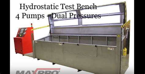 hydrostatic test bench pneumatic fluid power components liquid pumps gas boosters houston texas