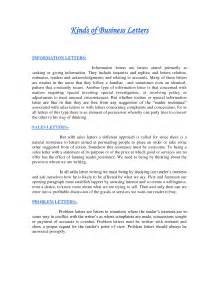 Business Letter Sample Types different types of letter formats best template collection
