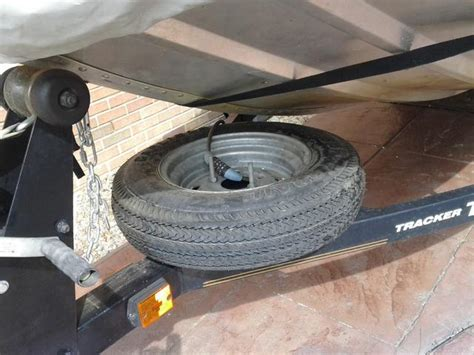 tracker boat trailer tires spare tire carrier