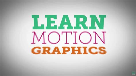 motion graphics design youtube become a motion graphics designer using after effects