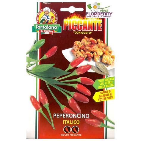 peperoncino in cucina piccante in cucina peperoncino italico semi in busta seme
