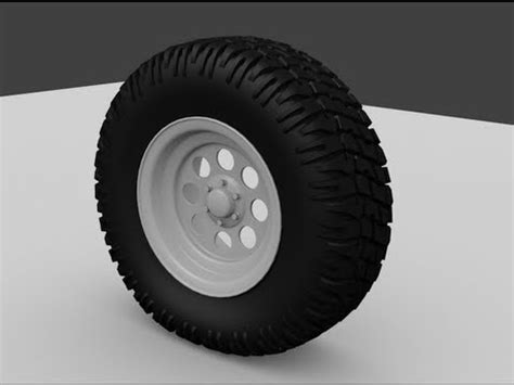 blender tutorial tire modeling an offroad wheel blender 3d tutorial part2