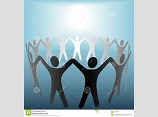 Circle Of People Under Bright Spot Blue Background Stock ... Free Clip Art Of Hands
