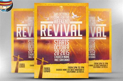 flyer template holy revival church 20 revival flyers free psd ai eps format downloads
