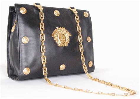 Couture Leather Shoulder Bag by Gianni Versace Couture Medusa Leather Shoulder Bag At 1stdibs