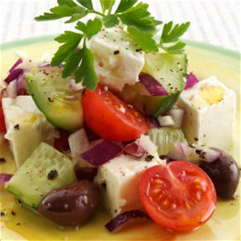 Fast Easy Dinner Salad With Saganaki fast easy dinner salad with saganaki popsugar food