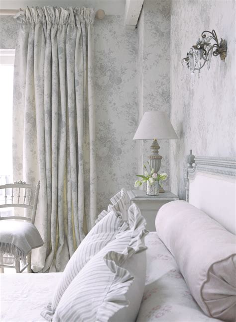 beautiful french bedroom chair with kate forman fabric 163 oyster roses wallpaper kate forman