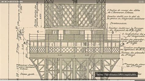 eiffel tower floor plan an eyeful of the eiffel s time machine invites you to opening of the world s most