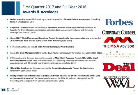 Mba 1st Year Us Competitions 2016 17 To Participate by Fti Consulting Inc 2017 Q1 Results Earnings Call
