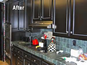 Painted Black Kitchen Cabinets Before And After Kitchen Black Painted Cabinets For Kitchen Design White And Black Kitchen Cabinets White