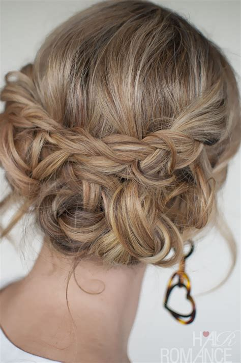braid updo hairstyles casual braided updo easy braided
