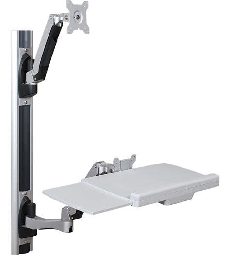 wall mounted standing desk wall mounted sit stand desk single monitor bracket