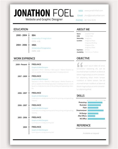 Resume Psd by 30 Amazing Resume Psd Template Showcase Streetsmash