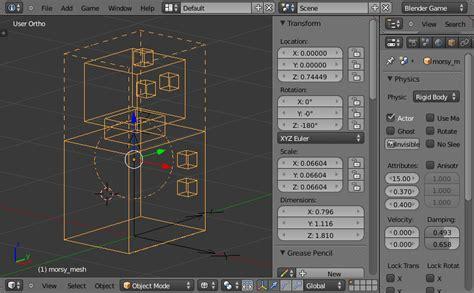 mesh templates for blender a journey to a new simulation the morse simulator