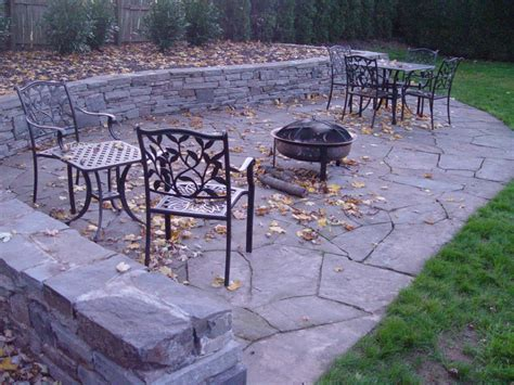 how to build flagstone patio flagstone patio and sitting wall abington pa by the at escapes