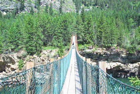 swinging bridge montana libby mt kootenai falls the swinging bridge photo