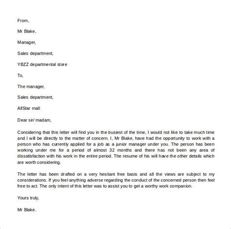 letter of recommendation for adoption template sle reference letter format 13 free