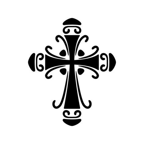 cross silhouette tattoo ornate cross stencil cricut stencils