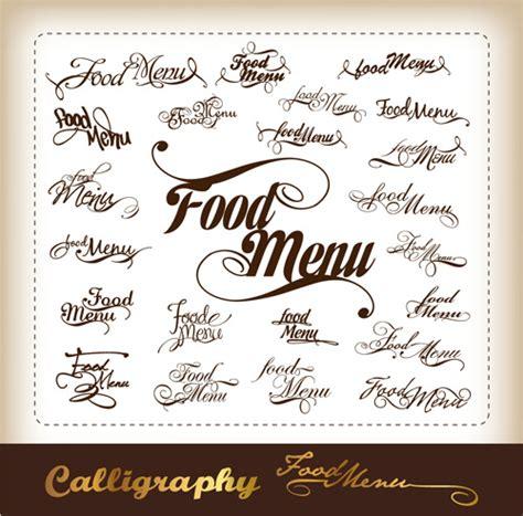 menu design elements elements of food menu cover design vector free vector in