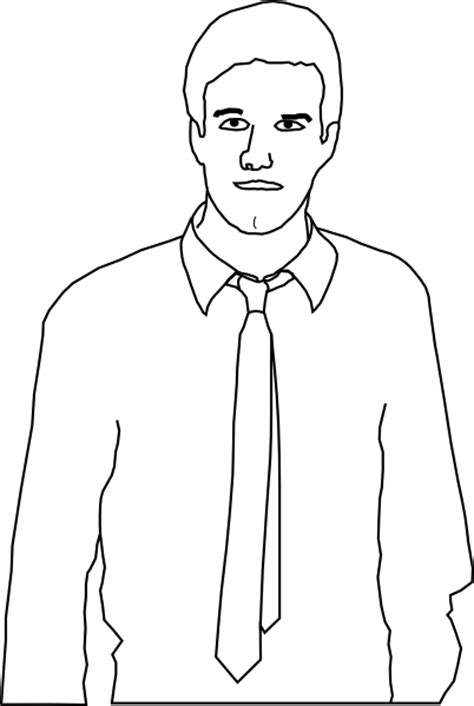 Clip Person Outline by Wearing A Tie Outline Clip At Clker Vector Clip Royalty Free