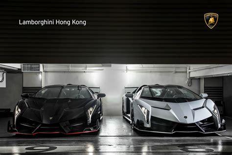 9 Lamborghini Veneno Roadsters by Two New Lamborghini Veneno Roadsters Delivered In Hong
