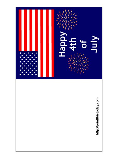 4th Of July Cards Printable