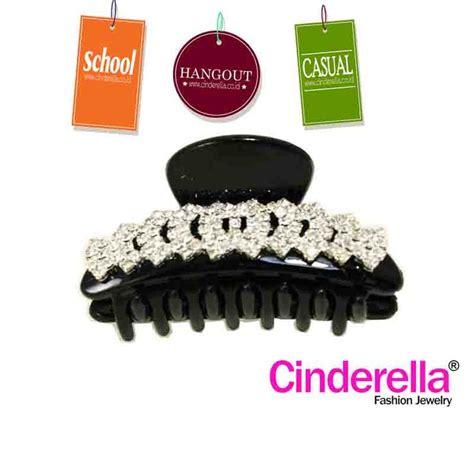 Jepit Rambut Hitam jepit rambut cantik coklat berbentuk berwarna hitam berhiaskan permata cocok digunakan