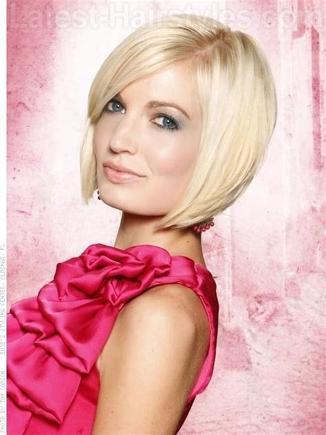 pictures of a line cuts with side swept bangs a short and sexy bob hairstyle for spring 2012 sleek and