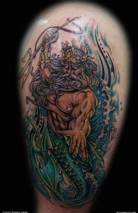 neptune tattoo designs king neptune trident www pixshark images