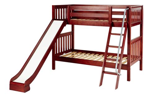 Bunk Bed With Slides Maxtrix Medium Bunk Bed W Ang Ladder And Slide