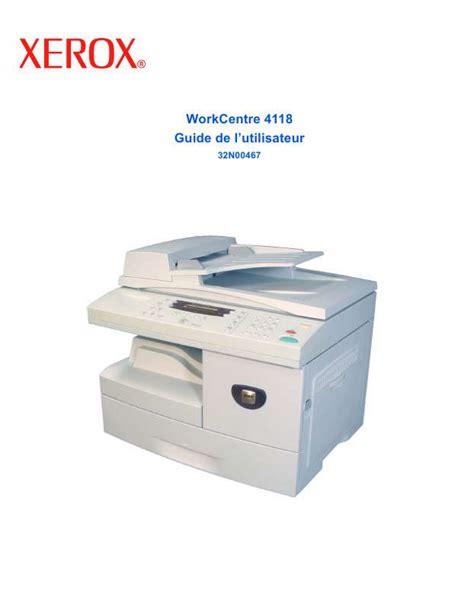 Xerox Cp235w Cover By M mode d emploi xerox workcentre 4118 imprimante