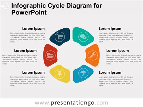 how to create template in powerpoint infographic cycle diagram for powerpoint presentationgo
