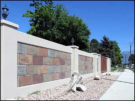 decorative concrete fences wall forms aftec llc