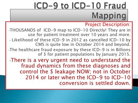 icd 9 to icd 10 fraud mapping